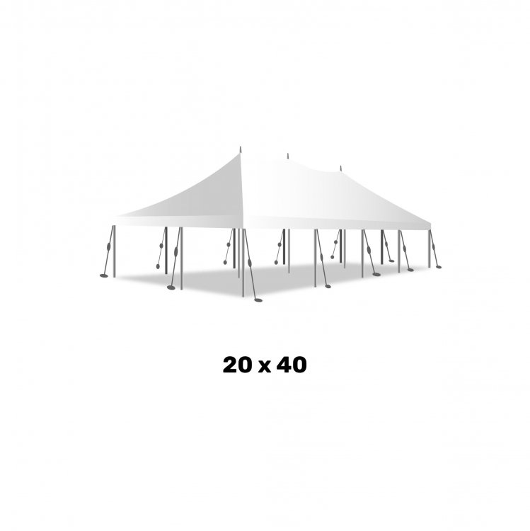 20ft x 40ft Pole Tent