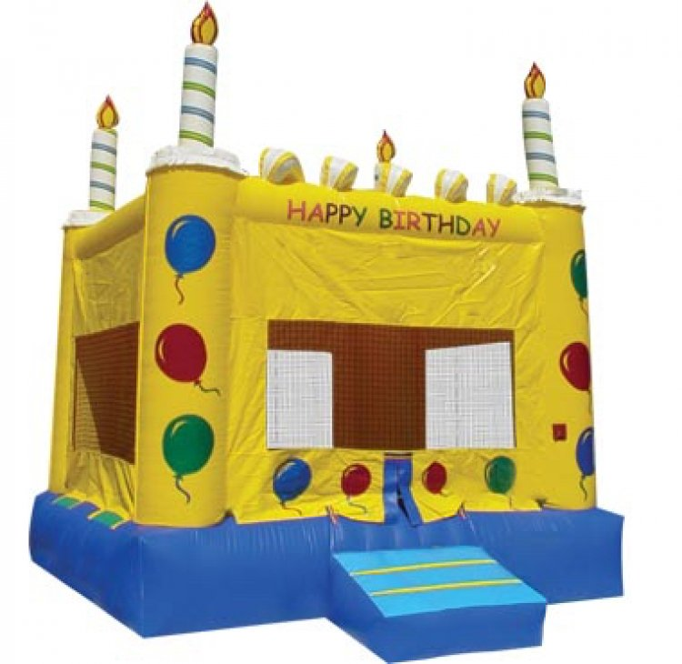 Birthday Cake Bounce House (Medium)