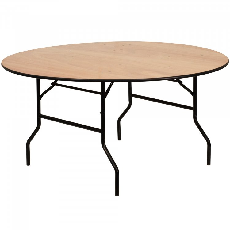 5ft Round Wood Tables