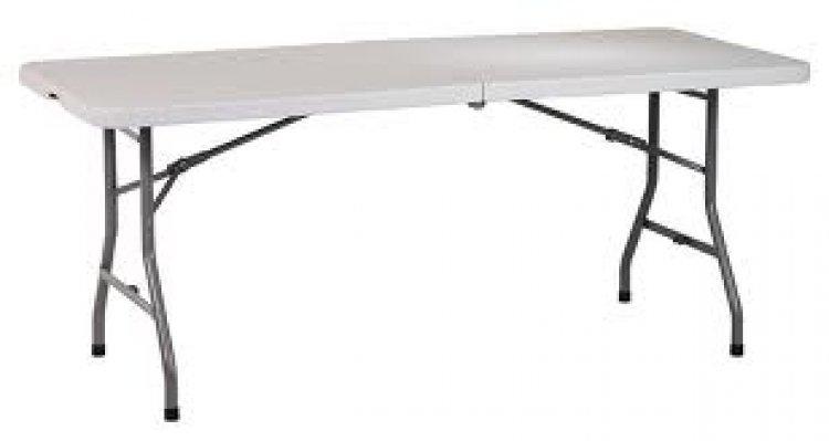 6ft Rectangular Folding Table